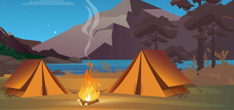Een Blog Hout | Op de camping
